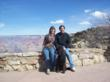 DogFriendly.com's Tara and Len Kain with their dog Toby at the Grand Canyon