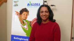 Usha Madapura, Director  of the Bolingbrook, and new  Darien, IL ALOHA Mind Math centers