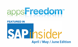 appsFreedom Featured in SAPinsider