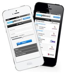 Job board software mobile version