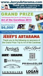 Grand Prize Trip for 2 To Art of the Carolinas