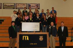 Check Presentation to Lone Jack FFA Chapter