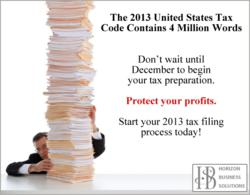 2013 Tax Preparation - Start Today