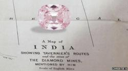 "34.65 ct. Fancy Pink Diamond, known as the ""Princie""."