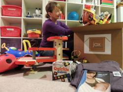 Jax in the Box Playroom Purge