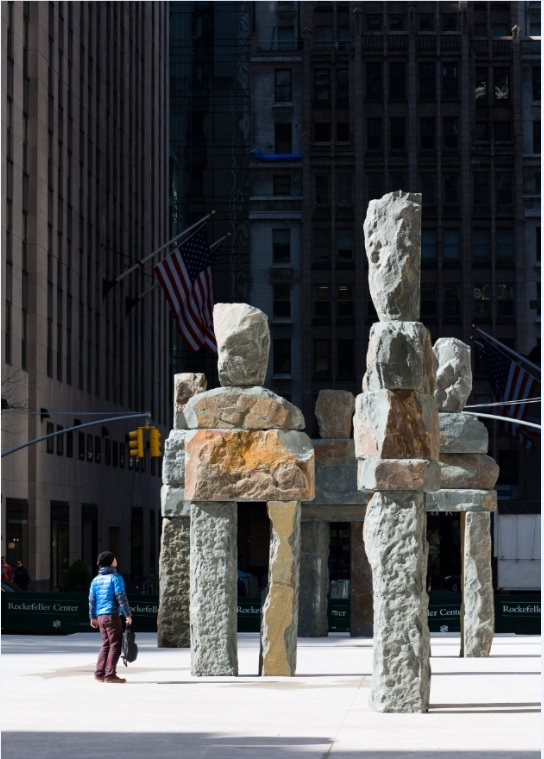 Nine Colossal Stone Figures By Artist Ugo Rondinone