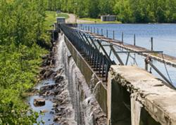 Image of Grand Falls Dam on St Croix River