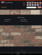 "The user then selects his choice of brick and mortar color and can view the selection in ""close up"" view."