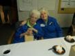 Alice Vogt, left, celebrated her 95th birthday with fellow volunteer Irene Doza at Mercy Hospital Jefferson in Missouri.