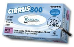 Cirrus800 White Nitrile Exam Gloves Box