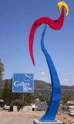 "This 16-foot tall sculpture from Fresno's Chris Sorenson stands tall outside Oakhurst's ""Gallery Row"", a series of art galleries that serve as the hub of the region's thriving art scene."