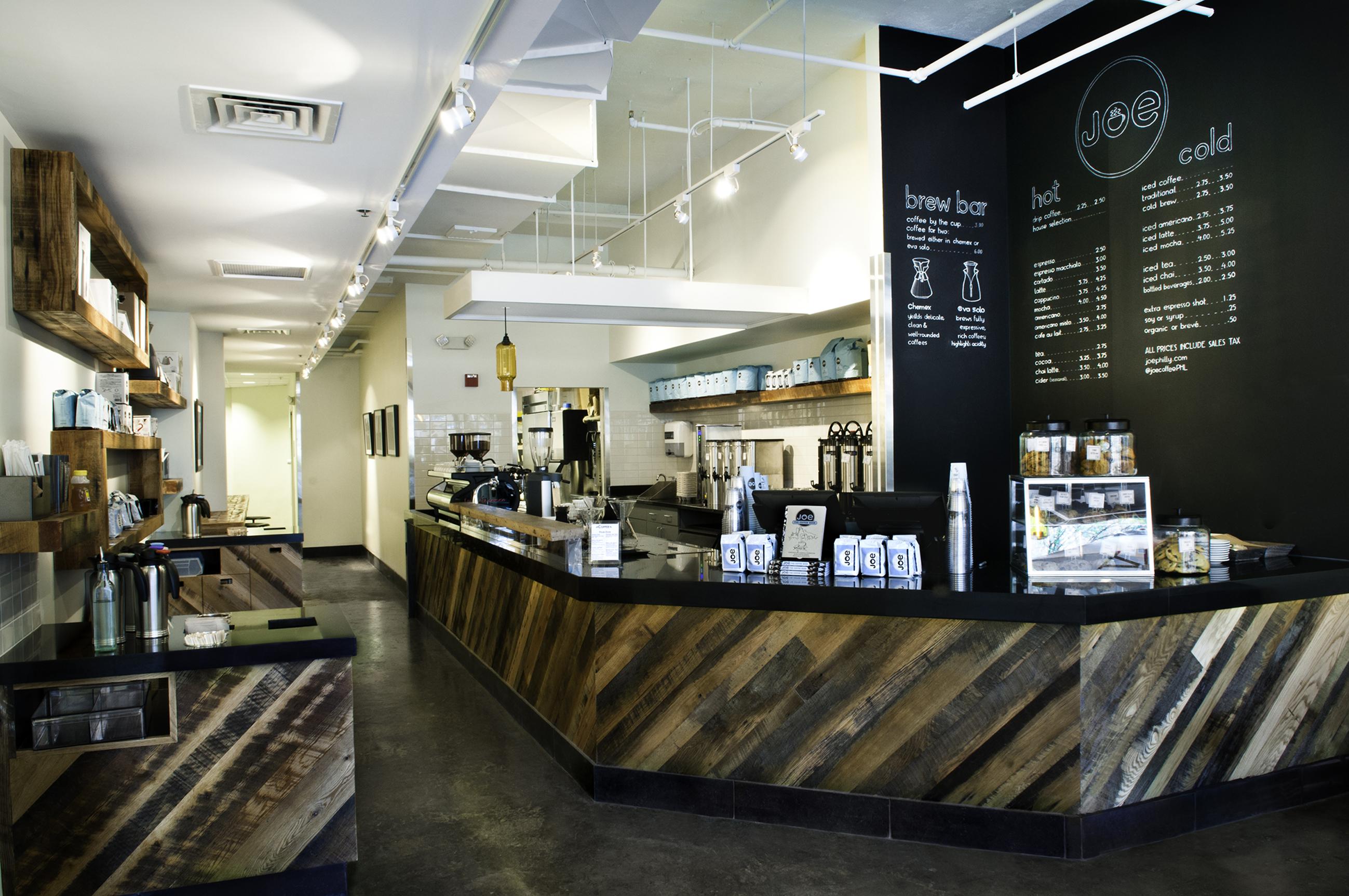 The Interior Space Of Joe Coffee In Rittenhouse Square