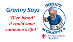 granny 8, donate blood at granny 8, granny 8 blood drive