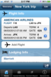 Flight Itinerary feature