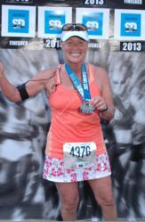Tina Howe from San Diego Plumbing Company, Bill Howe, completes marathon after major break