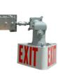 Class 1 Division 1, Class 2 Division 1 & 2 approved exit sign with battery backup