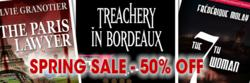 50% off top mysteries from France