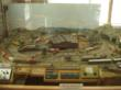 The model train is on display inside the museum