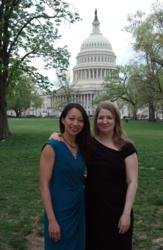 PreCheck's Director of Compliance Vu Do and Director of Operations Dana Sangerhausen speak with legislators on Capitol Hill