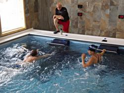 endless pool, commercial pool, swimming, water exercise, aquatic therapy, college swimming