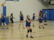 Highland Hall Waldorf Schools 5th/6th grade girl's volleyball warming up
