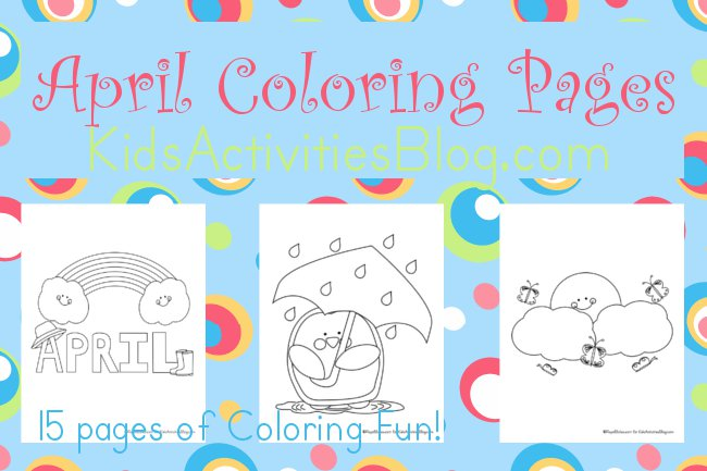 Fun April Coloring Pages and Printables to Color that Transform into ...