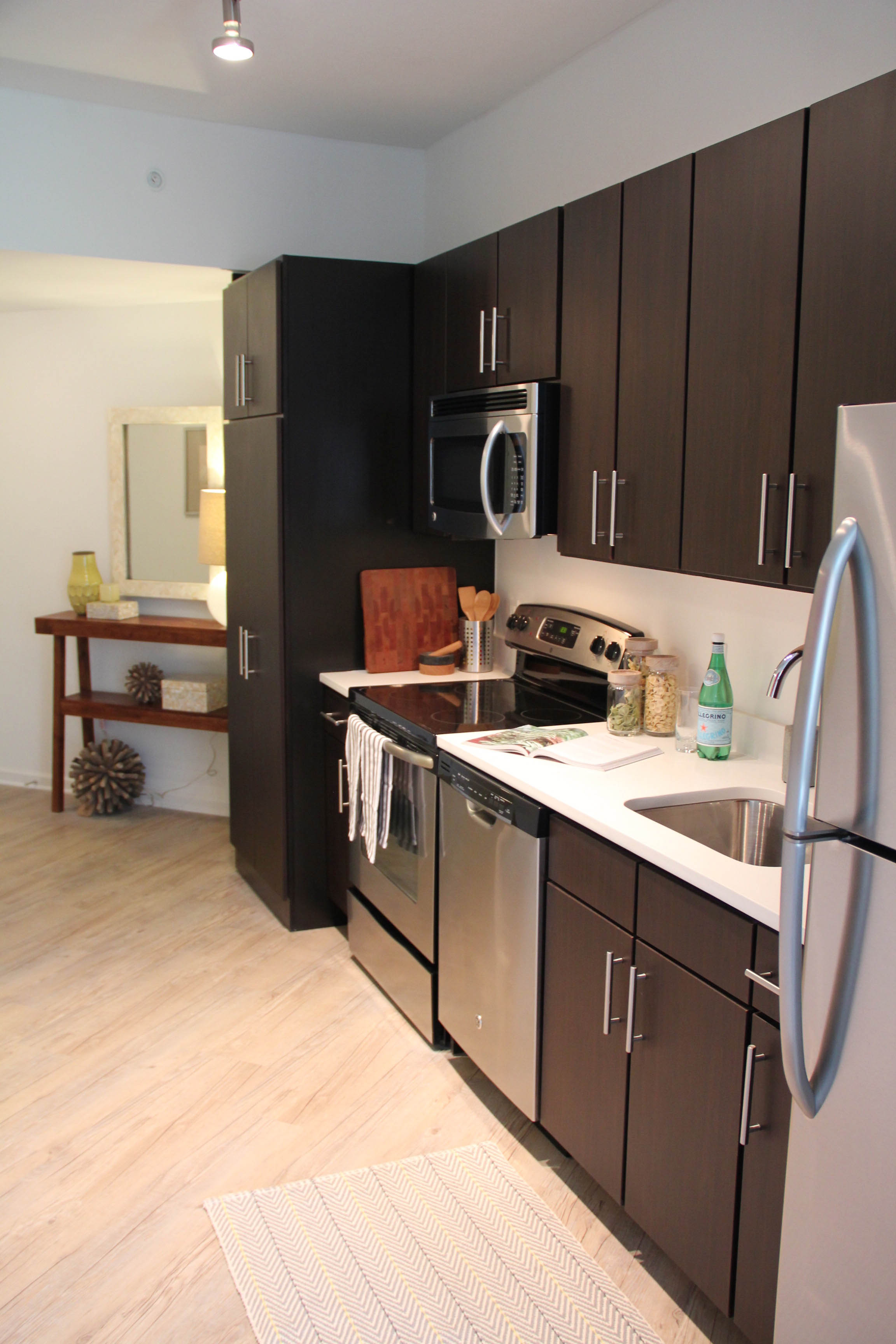 14w apartments open in u street neighborhood with designer for Living in a model apartment
