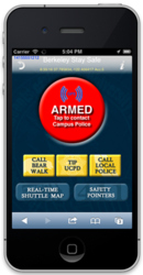 Campus StaySafe is a smartphone panic button app for enhanced college student safety