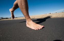 Running barefoot can be fun and easy