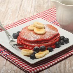 Pancakes made with LorAnn Red Velvet Emulsion