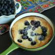 Lemon Blueberry Dutch Pancakes flavored with LorAnn Lemon Emulsion