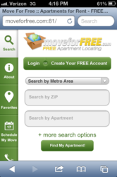 Move For Free's new mobile site