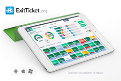 ExitTicket Classroom Teacher module enables the teacher to see the performance and progress of every student in real time.