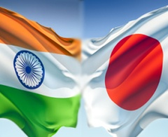Indian and Japanese Flag