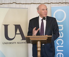 The Right Honorable, Vince Cable, Secretary of State for Business, Innovation and Skills.