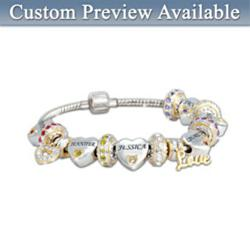 "Forever In A Mother's Heart"" Personalized Bracelet"