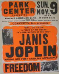 1960'S Charlotte Coliseum/Park Center Concert Posters