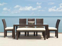 Lloyd Flanders Contempo Modern Wicker Dining Set