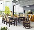 Leeward Sling Big Outdoor Dining Set from Telescope Casual