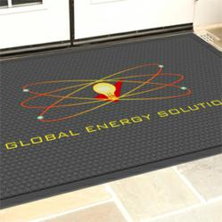 SuperScrape™ Impressions indoor-outdoor logo floor mats mold high-quality, digitally printed images into the rubber - photo