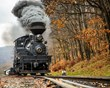 Cass Scenic Railroad authentic Shay engine transports passengers up the mountain.