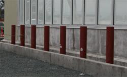 Reliance Foundry's steel pipe bollards are constructed from high grade ASTM 500 B steel and finished with prime paint.