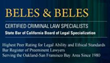 Richmond Criminal Lawyers at Beles & Beles Announce No Cost...
