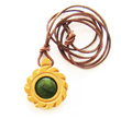 Cedar Wood Amulet - Flower of Sun