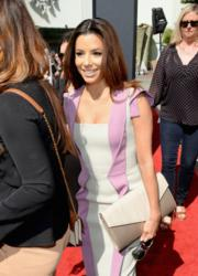 Eva Longoria with Jill Milan Russian Hill Clutch at TCM Classic Film Festival Apr 27 2013 (Photo: Michael Buckner, WireImage)