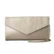 Jill Milan Russian Hill Clutch in beige and pale gold