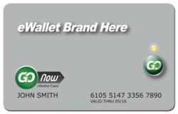 GoNow eWallet Card - model with one default card button