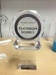 Platinum Source Preferred Supplier award