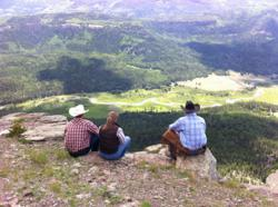 Rainbow Trout Ranch guests enjoying just one of the spectacular views on an all-day ride.