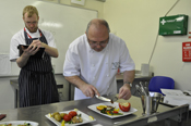 Havering College Young Chef 2013 judges Glenn Norman and Paul Gayler